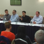Me speaking on a panel regarding offshore outsourcing