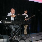 Me and Simon Coulson Playing on stage